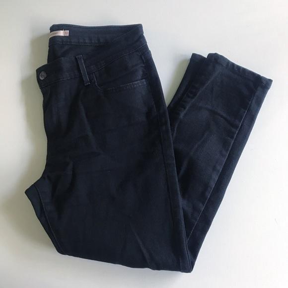 Levi's Denim - Levi's 710 super skinny ankle black jeans mid-rise